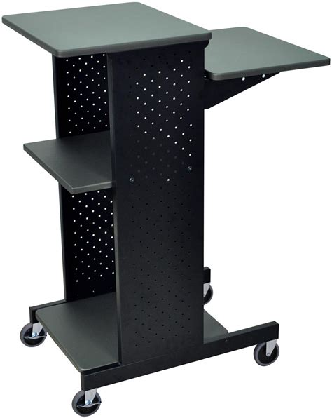 mobile laptop desk cart wheeled laptop stand mobile computer desk