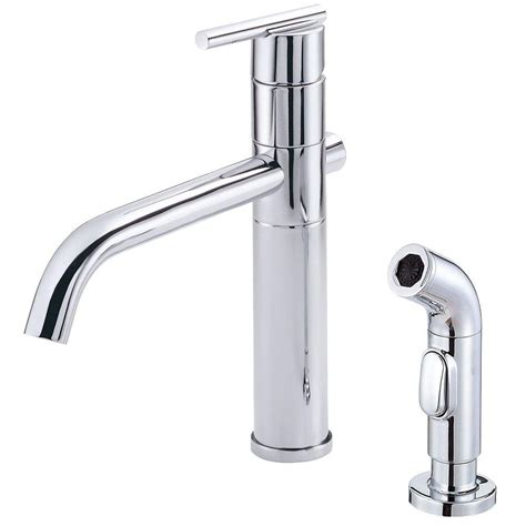 single kitchen faucet with sprayer danze parma single handle side sprayer kitchen faucet in