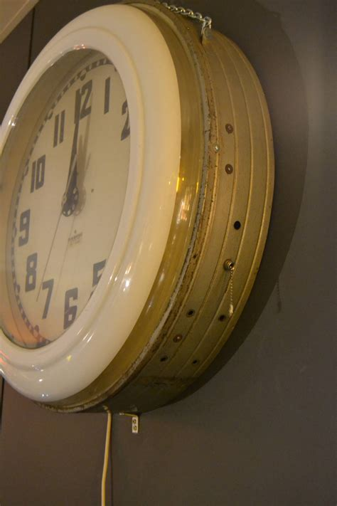 lighted clocks for sale large 1930s art deco electric neon clock cleveland ohio