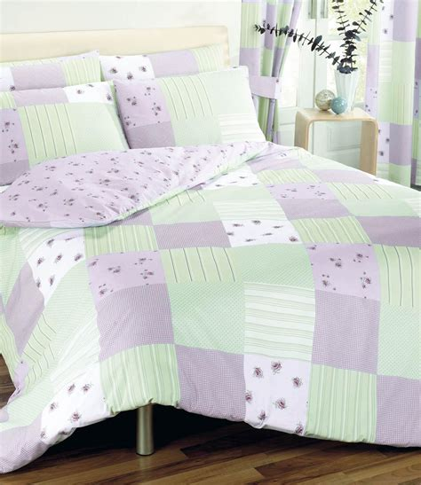 patchwork duvet cover lilac free uk delivery terrys