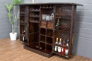 Möbel Aus Indien : sheesham barschrank aus massivholz im kolonialstil walnuss matt ~ Sanjose-hotels-ca.com Haus und Dekorationen