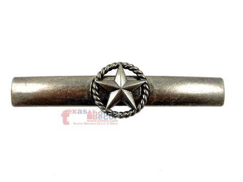 star rope drawer pull door handle  silver western
