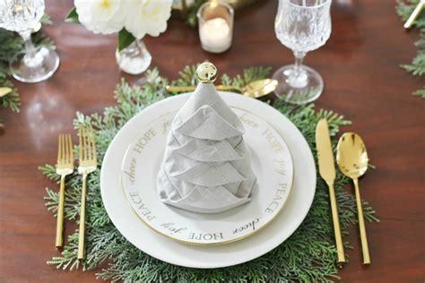 christmas tree napkin fold tutorial sand and sisal