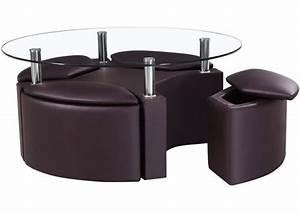 Table Basse Cuir : table basse ronde style et l gance dans salon 30 id es ~ Teatrodelosmanantiales.com Idées de Décoration