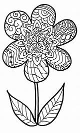 Coloring Pages Easy Zentangle Printable Getcolorings sketch template