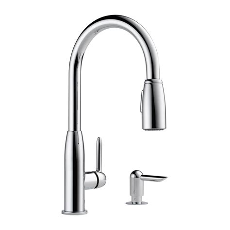 peerless pull out kitchen faucet peerless faucet p188103lf s contemporary pull kitchen