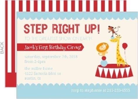 Carnival First Birthday Invitations Menshealtharts