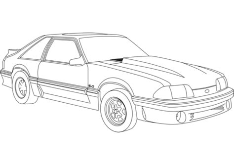 ford mustang coloring page  printable coloring pages