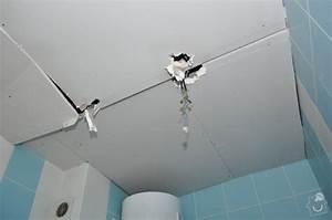 Sádrokartonový strop v koupelně