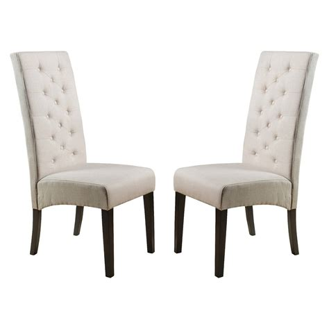 tufted dining chair wood set of 2 christopher
