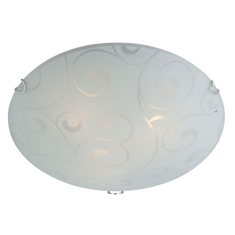 glass flush ceiling light with frosted swirl d 233 cor