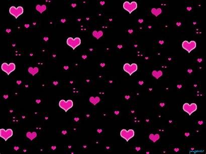 Glitter Hearts Graphics Pink Heart Background Blinking