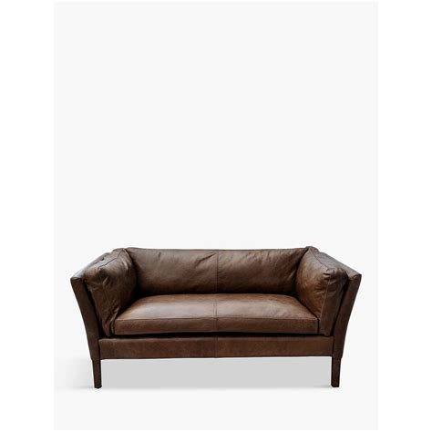 small leather settee halo groucho small aniline leather sofa at lewis
