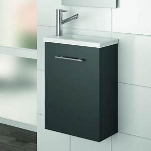 Lave Main 15 Cm Profondeur : lave main faible profondeur 22x40 cm gris mat aliso ~ Melissatoandfro.com Idées de Décoration