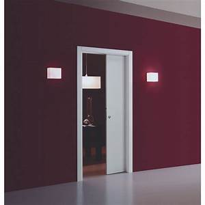 Porte A Galandage Double : kit habillage pour porte coulissante galandage eclisse ~ Premium-room.com Idées de Décoration