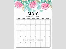 May2018calendarprintable02 Home Printables