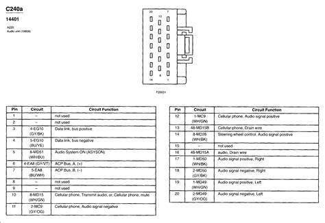 wrg 2570 2001 lincoln ls speaker wiring