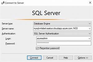 Conexión a una máquina virtual de SQL Server en Azure ...