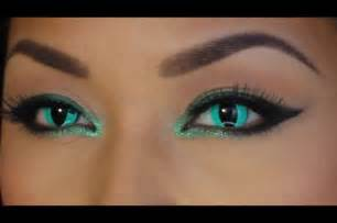 cat contact lenses aqua cat eye with contact lenses makeup