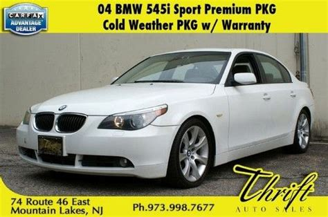 Purchase Used 04 Bmw 545i Sport Premium Cold Weather Pkg W