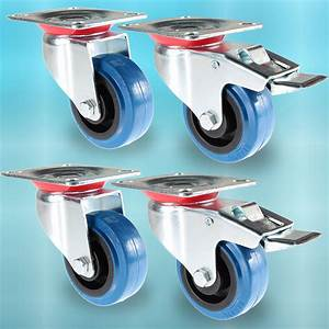 Lenkrollen Mit Bremse : transportrollen blue wheel lenkrollen schwerlastrollen mit bremse 80 100 125 mm ebay ~ Eleganceandgraceweddings.com Haus und Dekorationen
