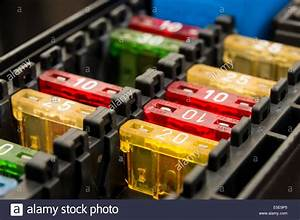 Close Up On A Car Fuse Box Stock Photo
