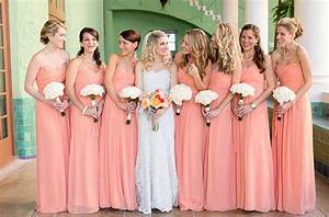 Peach Bridesmaid Dresses | Dressed Up Girl