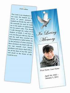 funeral program templates memorial bookmark template With memorial bookmarks template free
