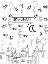 Eid Coloring Pages Mubarak Printable Getcolorings Print sketch template