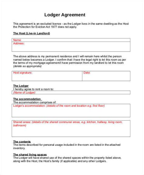 free lodger agreement template 30 day notice template notice to vacate storage unit letter docoments ojazlink exle of 30