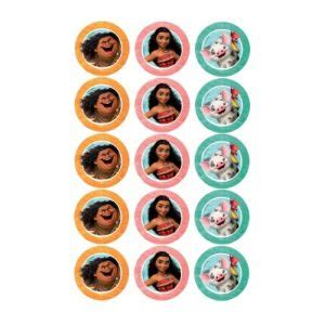 moana   edible icing cupcake toppers kids themed