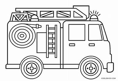 Coloring Fire Truck Pages Sheets Printable Toddlers
