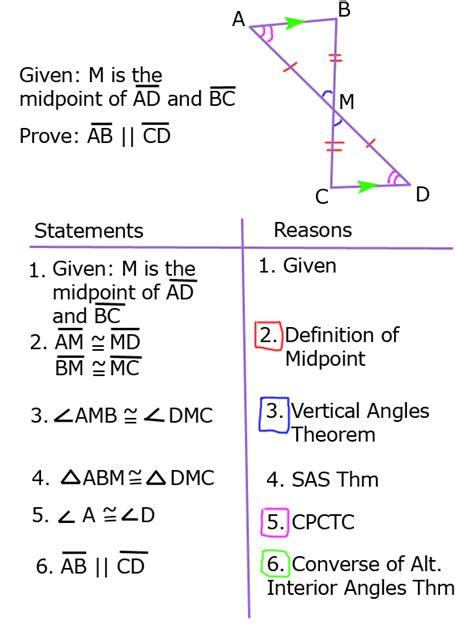 proving lines parallel with triangle congruence sss sas