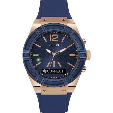 jam wanita guess gold montre guess connect c0001g1 montre connectée bleue