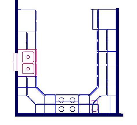shaped kitchen floor plans u shaped kitchen floor plan layout afreakatheart U