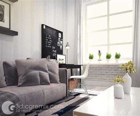 Livingroom Interior Scene 3ds Max Model Download S01 » 3d