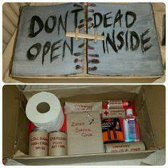 Zombie apocalypse survival kit for my boyfriend