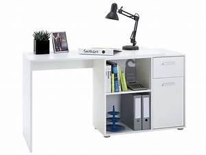Bureau blanc conforama. bureau gloss coloris blanc vente de bureau