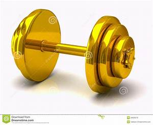 Gold Dumbbell Royalty Free Stock Image - Image: 28929276