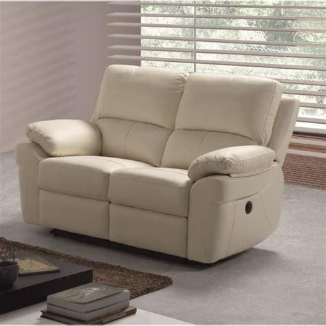canapé relaxation cuir corcega canapé droit de relaxation en cuir 2 places