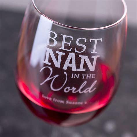 personalised wine glass     world