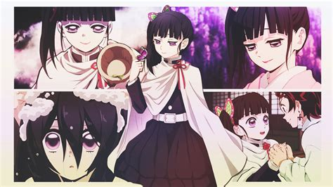 wallpaper anime girls kanao tsuyuri kimetsu  yaiba