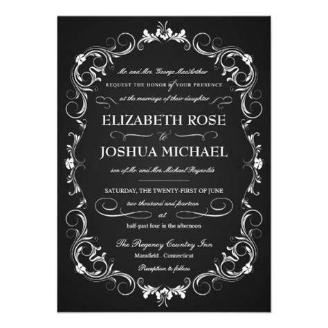 Chalkboard Fancy Typography Wedding Invitations Zazzle