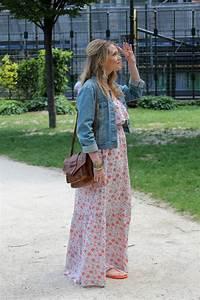 top robes blog robe longue et veste en jean With affiche chambre bébé avec veste jean fleurs