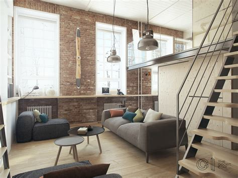 A Modern Home Decor With Exposed Brick Walls