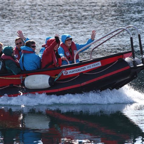 Small Boat Used To Get To Land by Iceland Excursions Small Boat Cruises Hurtigruten Uk