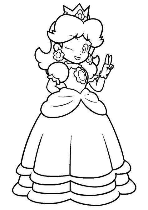 happy princess peach coloring page  printable