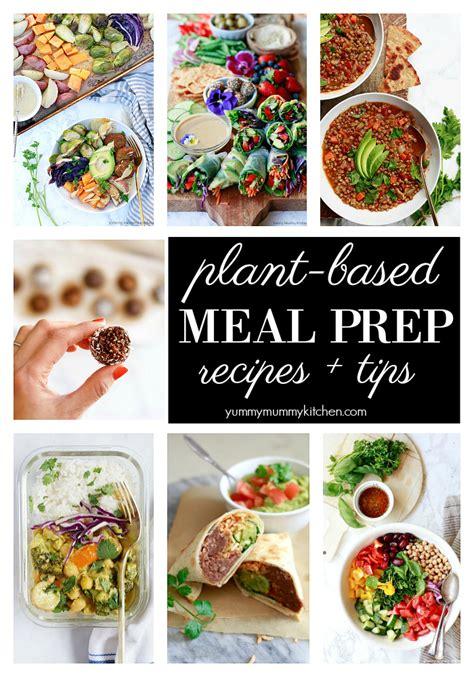 vegan meal prep ideas   healthy  delicious week