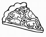 Coloring Pizza Slice Bestcoloringpagesforkids sketch template