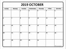 October 2019 calendar 51+ calendar templates of 2019